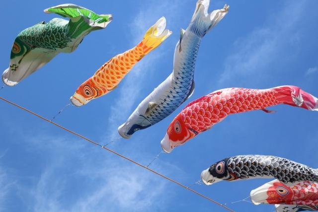 鯉のぼりと空