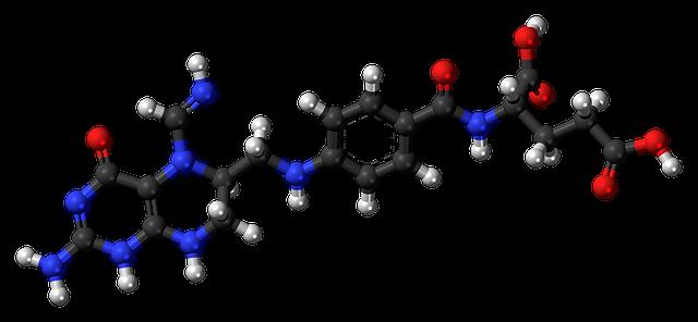 葉酸原子模型